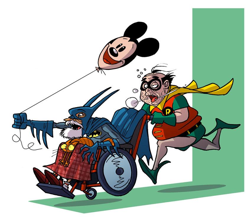 imagen Batman y Robin ancianos Decadencia